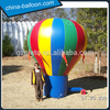 cheap Rainbow inflatable advertising ground balloon/advertising inflatable tire balloon for outdoor events