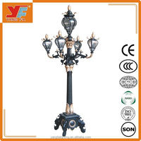 3-12m antique outdoor LED garden lighting decorative led street light