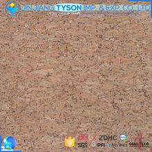 Woven backing embossed pattern synthetic leather laminating cork sheet