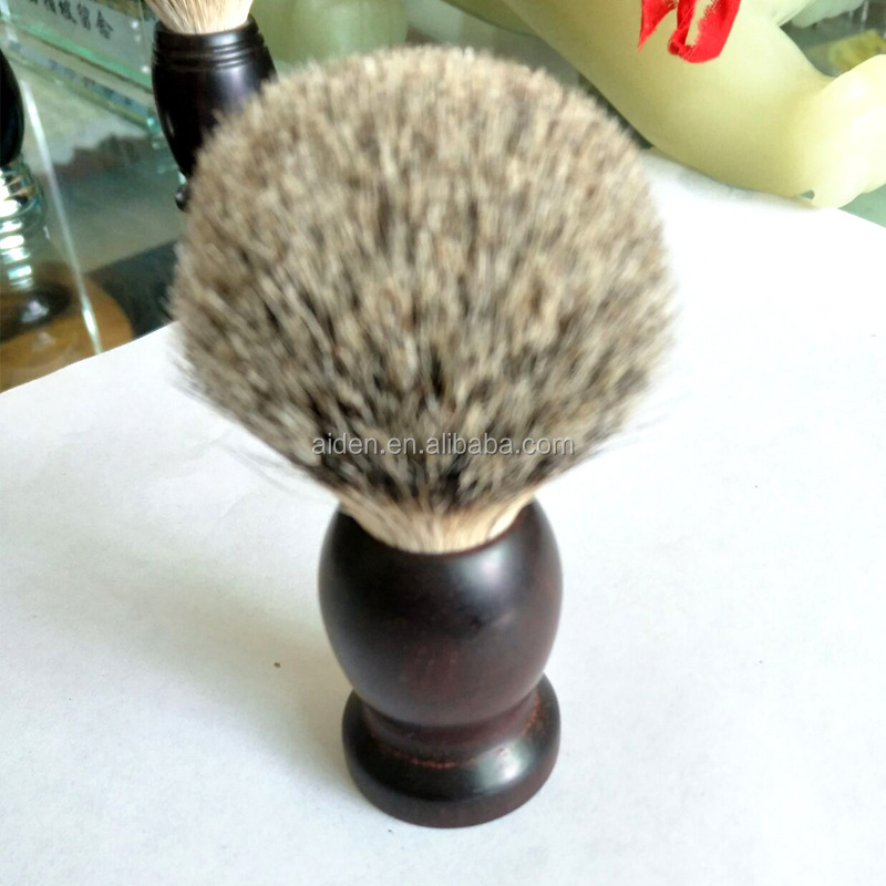 AIDEN--High grade handmade rhino horn red sandalwood handle with silvertip badger hair shaving brush