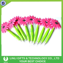 Custom Design Silicone Promotional Pen With Flower