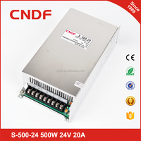 Free sample 500w smps 110v/ 220v AC input to be led driver 24v switching power supply