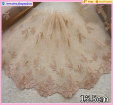 fashional newest design 16.5cm butterfly shape embroidered lace for lady