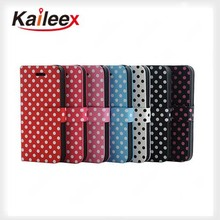 High Quality Pu Leather Cases For Iphone5 Wallet Leather Case With Cards Holder