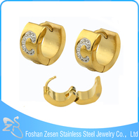 Popular Letter C Hoop Earrings, Stainless Steel Jewellery UK, Fashion Modeling Earriing
