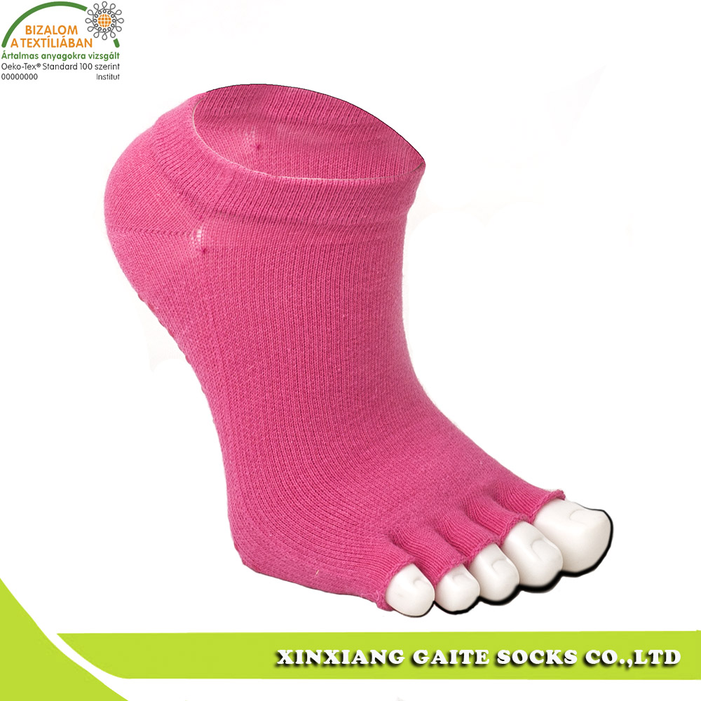 Professional OEM quality cotton knitted yoga socks manufactured in China
