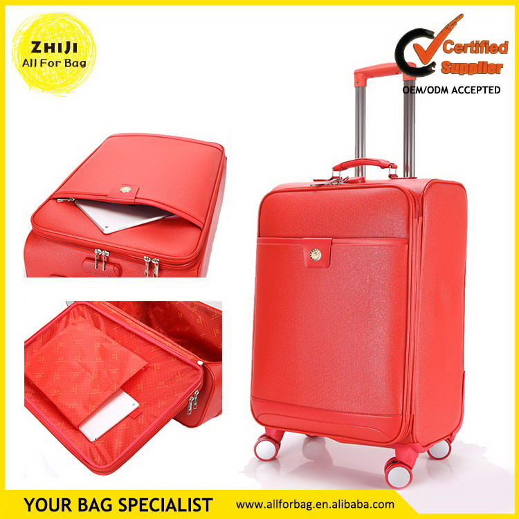 China supplier manufacture hotsell blue hard case trolley bags and luggage