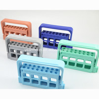 16 holes Dental Bur Block Holder Stand Autoclave Disinfection Box For Expand Burs
