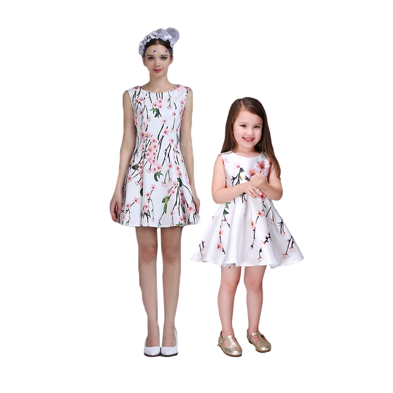 wholesale new arrivals cotton family mother and daughter matching dresses,mommy and me maxi dresses for party and birthday