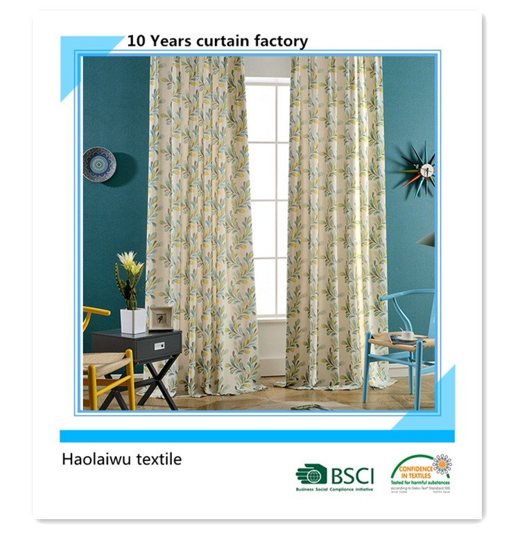 print poly/cotton curtain