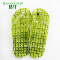 Plastic anti-skid massage slippers breathable flip flops slipper shoes