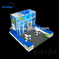 Aluminum profile booth with fabric covered fashion trade show design