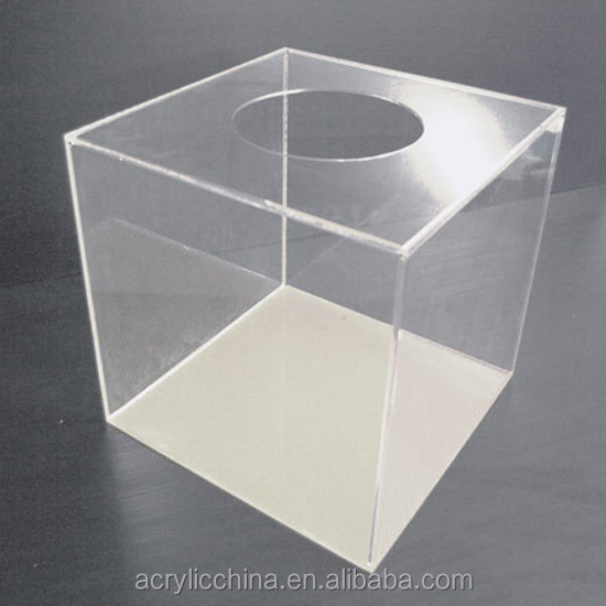 Acrylic Boxes Custom Made : Custom made acrylic lucky draw box clear plexiglass
