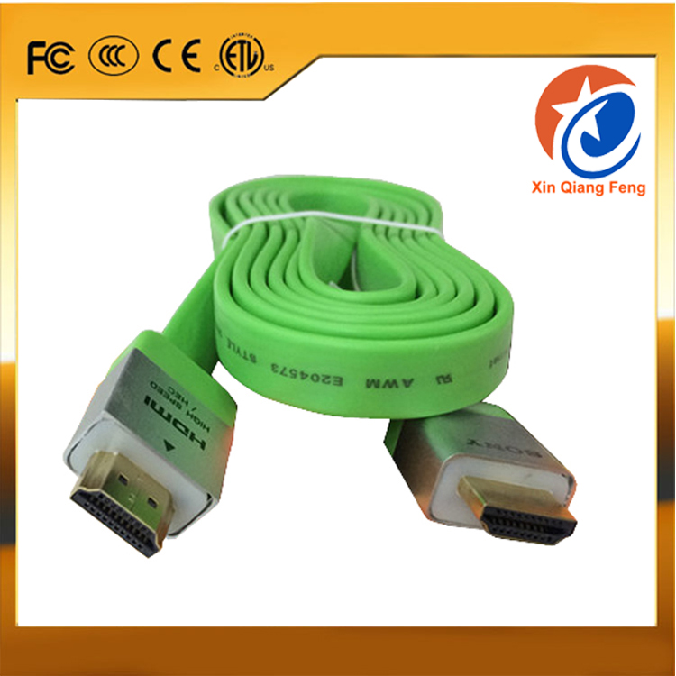 Full HD Flat HDMI 1.4 converter cable support 4k 3D 1080P