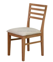 Simple design patio outdoor solid plain wood teak dining chairs