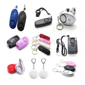 Personal Alarm Lady Self Defense Protection Alarm With Key Ring Light Safety Alarm Support OEM Logo Package