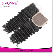 2016 Yvonne factory price brazilian hair dark brown silk base closures lace frontal