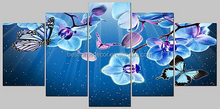 flower oil painting on canvas,flower canvas painting 5 panels