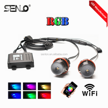 Best popular colors changing wifi controller 1000LM rgbw led angel eyes rgb color led marker drl e60 e39 e36 e46 e38 e53 e65