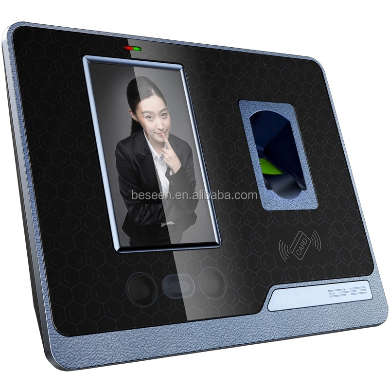 TCP/IP Biometric time attendance two infrared camera Card reader facial recognition device with wifi