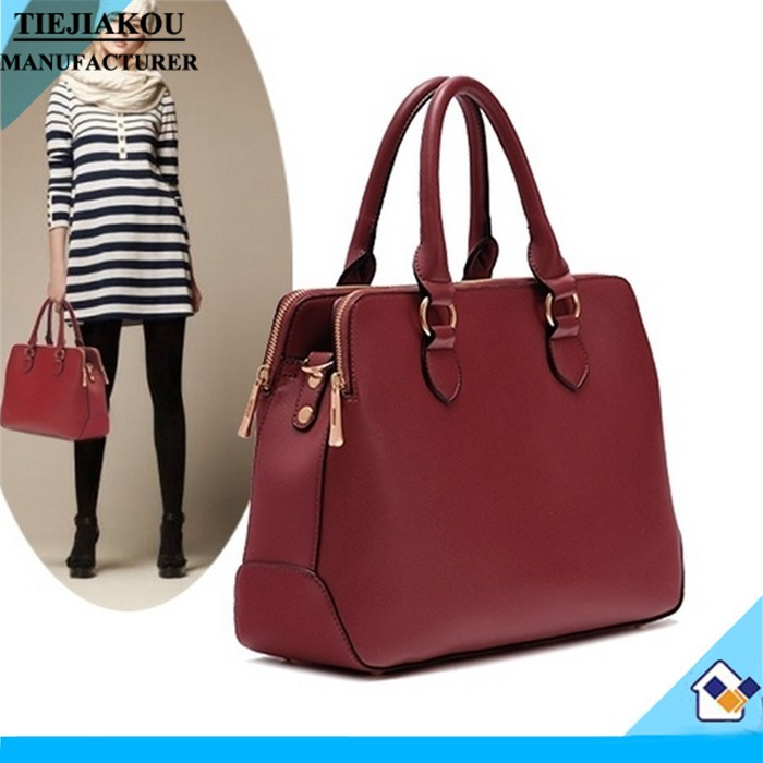 2014 latest fashion designer european leather handbags bright Patent high quality
