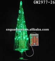 LED Glass christmas tree for party decoration