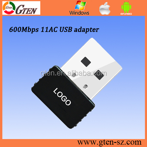 600mbps RTL8811 chipset 11AC 1000mw alfa wifi usb adapter 2.4G and 5G
