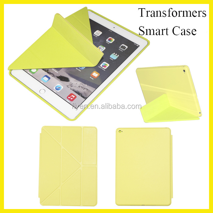 Transformers Multi-angle Stand Leather Smart Case for ipad mini Smart Case for ipad air 2 Samrt Case Auto Sleep Factory Hot New