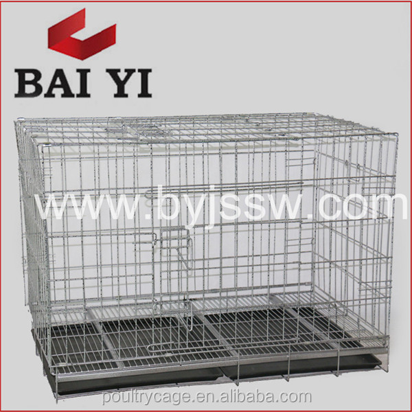 BAIYI Wholesale Aluminum Dog Kennel Cage Stainless Steel Pet House