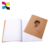 China manufacture recycle kraft paper black line printing a5 notebook