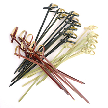 Decorative party food color bamboo knot skewers