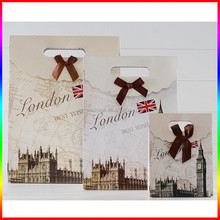 small/middle/large size London style paper packing bag