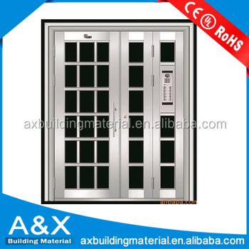 Stainless Steel Building Main Entrance glass Door