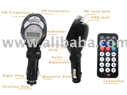 Car MP3 Player (Car audio, car MP3 player with FM transmitter