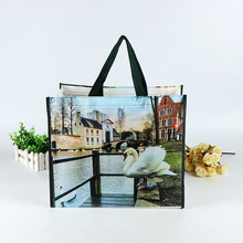eco custom photo printed promotion laminated pp non woven bag tote bag for shopping