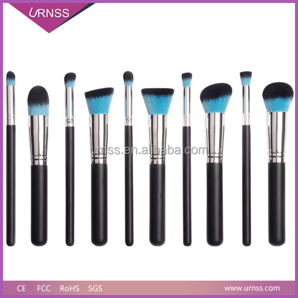 2016 Wholesale custom made logo synthetic hair makeup brushes make up brushes