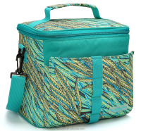 9 Cans Insulated Cooler Bag w/ Colorful Panicle printing, High quality lunch Bag for Adult and Kids