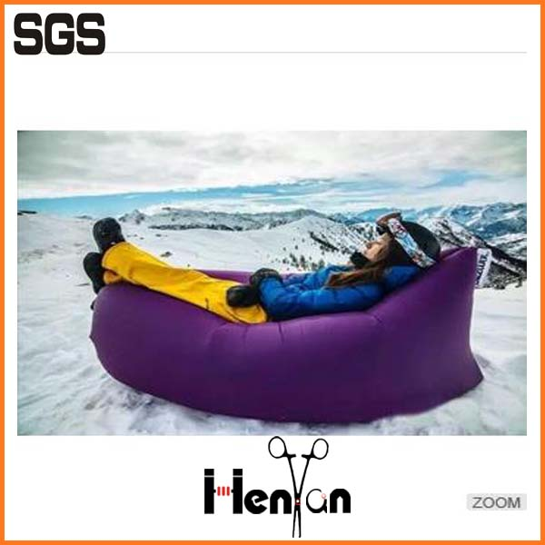 wholesale custom printed lamzac hangout inflatable sleeping bag