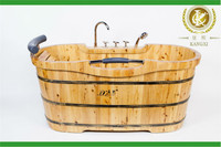 Chinese maunfacture high quality solid wooden massage bathtub