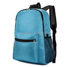 Fashion Shoulder Traveling Waterproof Backpack with two side mesh pouches