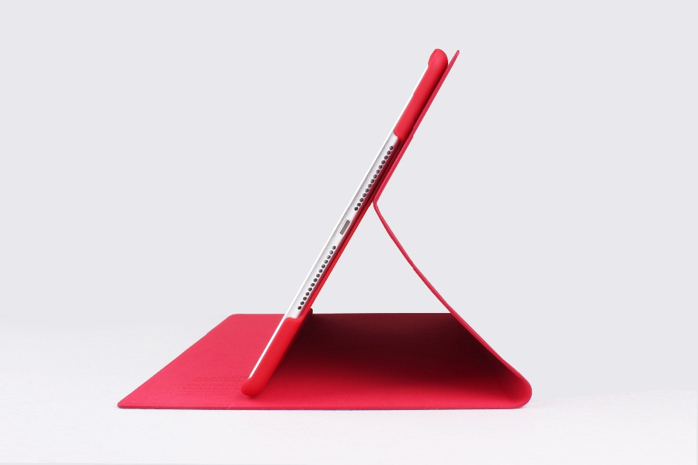 Red Color Leather Smart Case For iPad Air Fashion Designer Ultra thin for Apple iPad 5 iPad air 9.7 Case