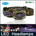Shenzhen factory led waterproof headlamp,dual light source headlamp for Indoor and Outdoor Application