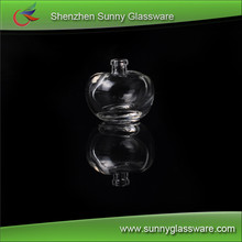apple shape clear glass perfume bottle easy to carry on