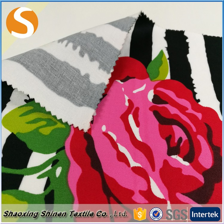 For low price stripe 100% Cotton printed woven Fabric