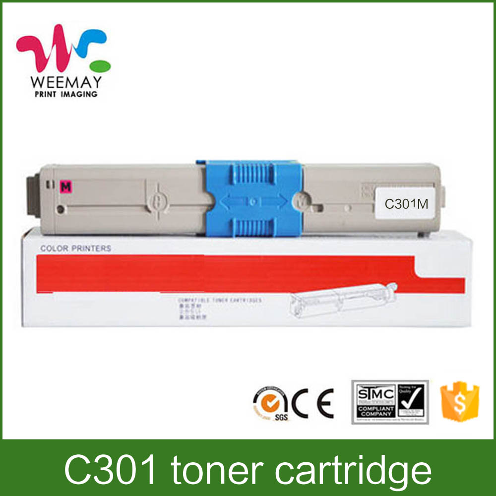 Printer toner cartridge for OKI C301 printer supplies toner cartridge