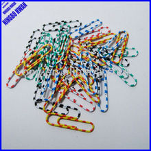 Quality office decorative colored 33mm zebra paper clips