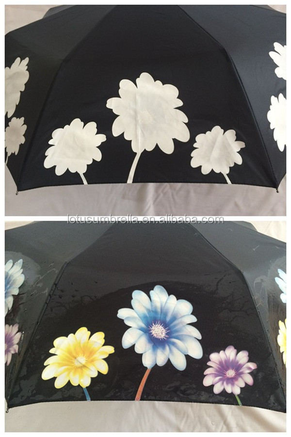 Amazing customized design magic rain color changing umbrella