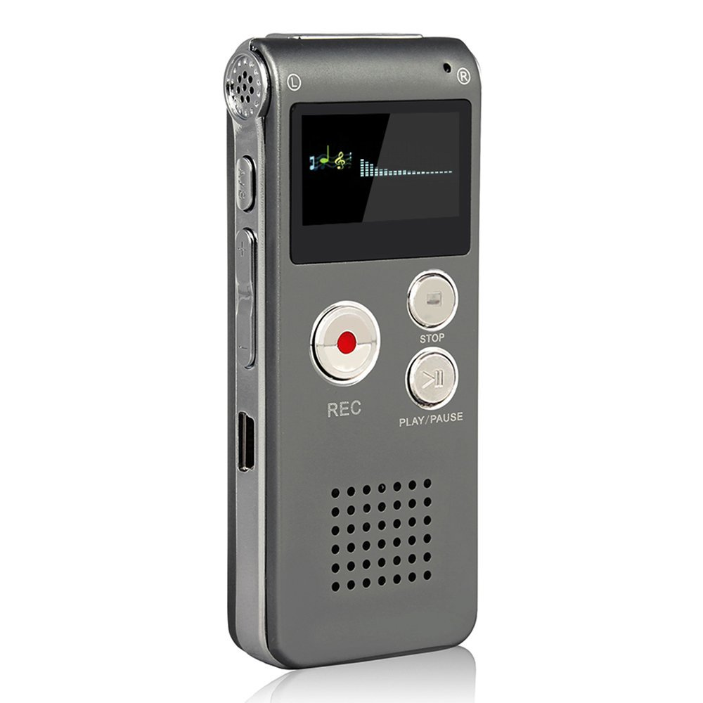 ACEE DEAL Gray Rechargeable and Multifunctional Digital Voice Recorder with Mini USB Port, MP3 Music Player & Dictaphone