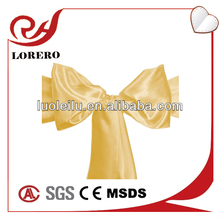 Chair Cover Sash Bow for Banquet Wedding Reception Party gold