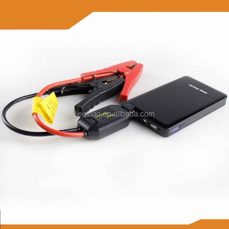 OEM 6000mAh car jump starter +smart protection cable+car charger gift+usb cable